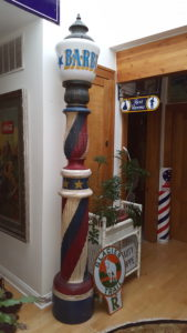 Wood Vintage Old Barber Pole ...Very large @ approx. 9' tall...Excellent condition....$9500