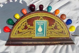 Old Mazda Light Bulb Display Sign...(In Our Collection )