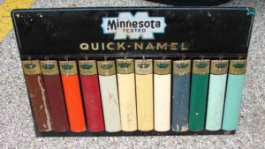 Vintage Paint Display for Minnesota Quick- Namel Paint sign....$750