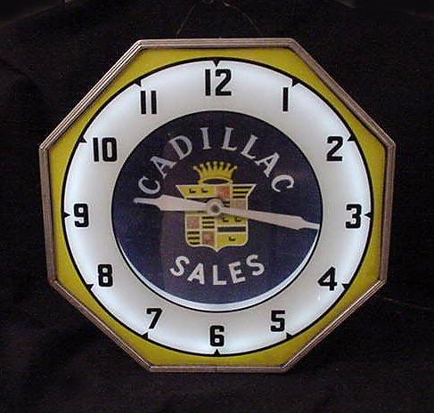 Npi Cadillac Sales Neon Clock