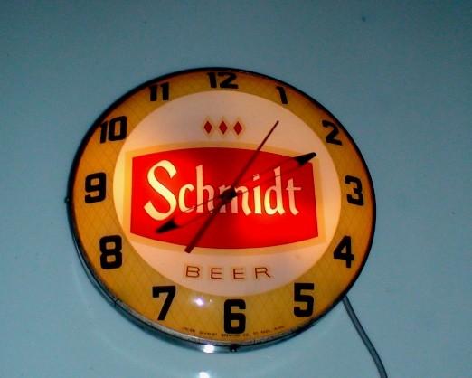 Old Schmidt Beer Clock