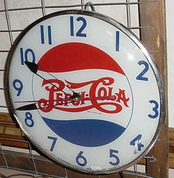 "Pepsi Cola clock..""In My Collection"""
