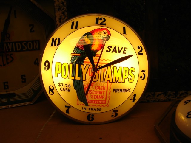 Polly Gas Stamps DB clock sign…..[ In My Collection ]