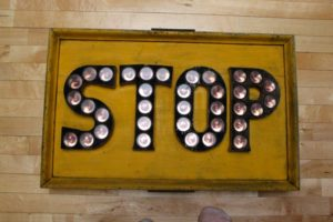 Very Old Wood Stop Sign with Glass jeweled Reflectors....Rather large & excellent condition....$1750