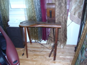 Early , Primitive & excellent condition Saddle Maker Bench..N  $600