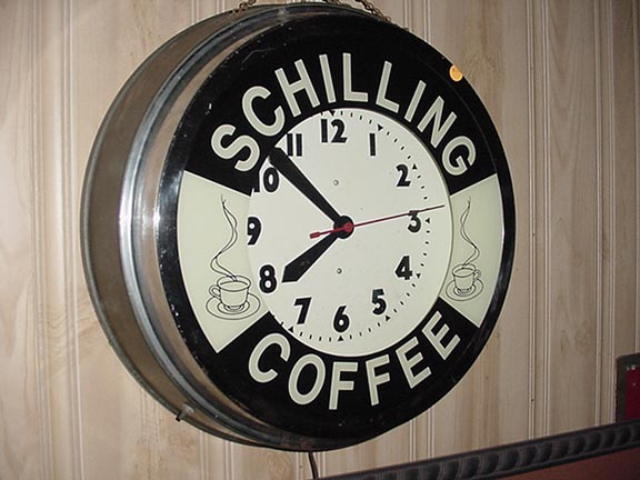 "Schilling Coffee Neon Clock….""In Our Collection """