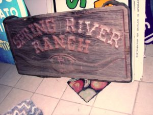 Antique Carved  Wood Spring Valley Ranch, Montana.......$1495