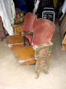2 Old Vintage Heywood Wakefield theater seats. .Very old & all original with a great designs.. $ 995