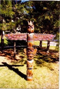 "I have owned this Totem Pole at least 20 years now..Its appro. 6-7"" tall  with a 4'-5' wing span.........$1200"