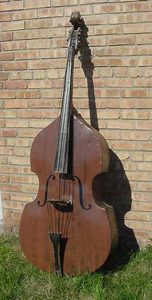 Very early, OLD Bass Guitar Trade sign. Its full size, Made of Metal & some wood...Very Rare Trade Sign from a Music Instrument Store..............$6500