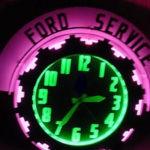 Neon Aztec Vintage Clock
