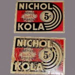 Original Vintage Old Nichol Kola Soda Tin Sign