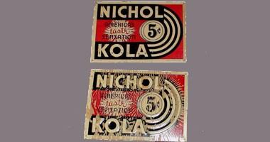 Original Vintage Old Nichol Kola Soda Tin Sign