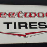Vintage Original Old Fleetwood tires Tin Sign