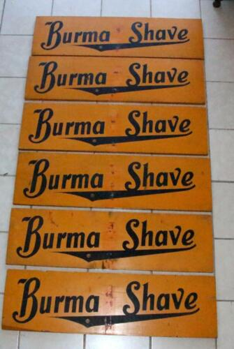 burma  shave yellow boards